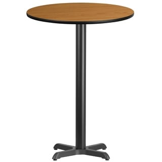 30-inch Round Laminate Table Top with 22-inch Table Base