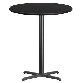 36'' Round Laminate Table Top with 30'' x 30'' Bar Height Table Base
