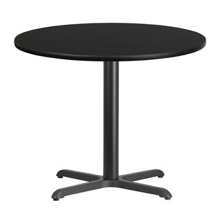36-inch Round Laminate Table Top with Table Height Base