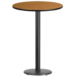 30-inch Round Laminate Table Top with Table Base