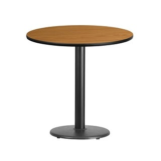 30-inch Round Laminate Table Top with Table Height Base