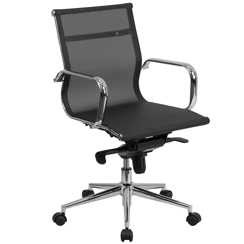 FLASH Furniture Mid-Back Mesh Executive Swivel Office Cha...