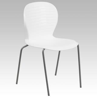 551 lb. Capacity Contemporary Ribbed Back Design Stack Chair