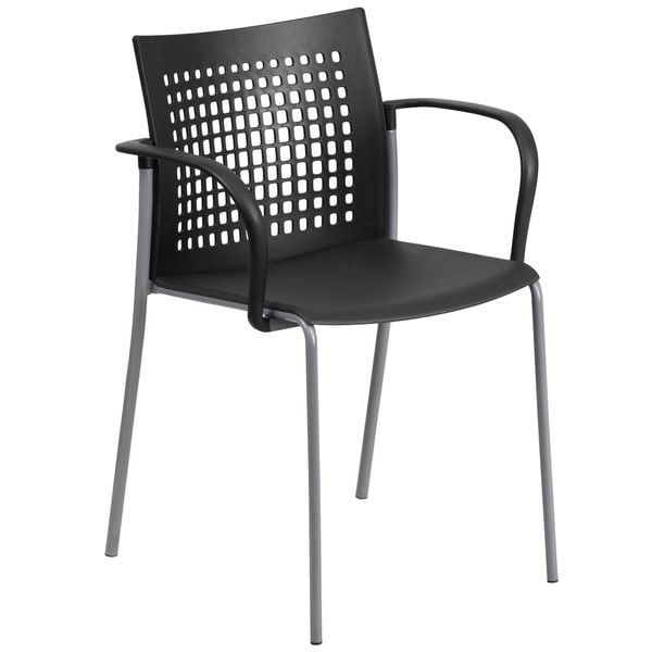 551 lb. Capacity Stack Chair with Air-Vent Back and Arms