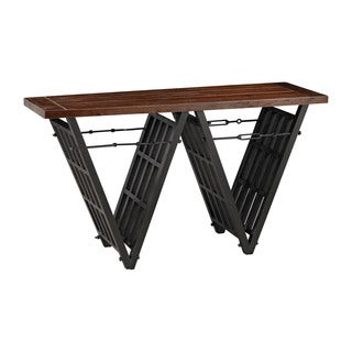 Sterling Industrial Era Console with Iron Stretcher