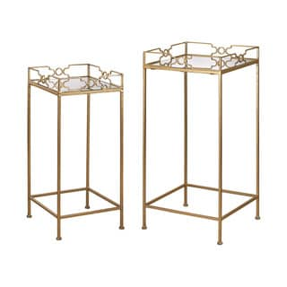 Sterling Bow Tie Mirrored Tables