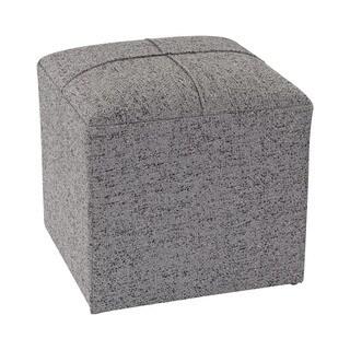 Sterling Grey Cube Ottoman
