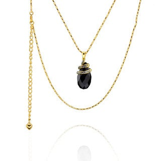 Sterling Silver Gold Plated Genuine Austrian Crystal Necklace