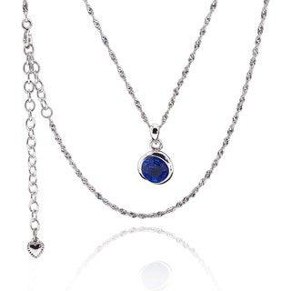 Sterling Silver Round Genuine Austrian Crystal Fashionm Necklace