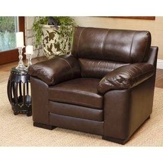 Abbyson Living Concord Top Grain Leather Armchair