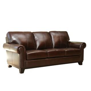 Abbyson Hamilton Top Grain Leather Sofa