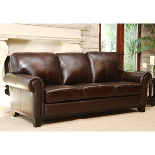 Abbyson Hamilton Top-Grain Leather Sofa