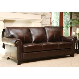 Merveilleux Abbyson Hamilton Top Grain Leather Sofa