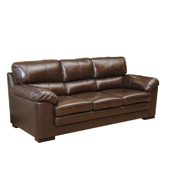 Awe Inspiring Shop Abbyson Concord Top Grain Leather Sofa Free Shipping Ocoug Best Dining Table And Chair Ideas Images Ocougorg