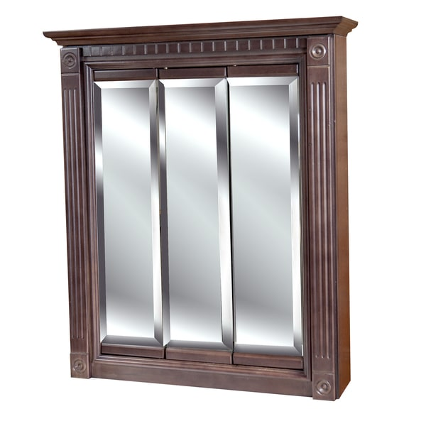 Tri View 24 X 30 Inch Cherry Finish Medicine Cabinet Free Shipping Today