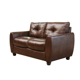 Abbyson Living Underwood Top-grain Leather Loveseat