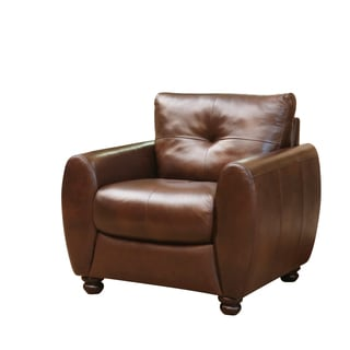 Abbyson Living Underwood Top-grain Leather Armchair