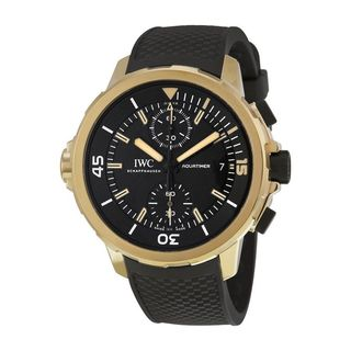 IWC Men's IW379503 'Aquatimer Expedition Charles Darwin' Chronograph Automatic Black Rubber Watch