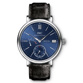 IWC Men's IW510106 'Portofino' Automatic Black Leather Watch