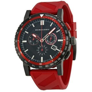 Burberry Men's BU9805 'The City' Chronograph Red Rubber Watch