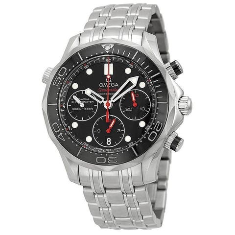 Omega Men's O21230425001001 'Seamaster Diver 300 M Co-Axial' Chronograph Automatic Stainless Steel W