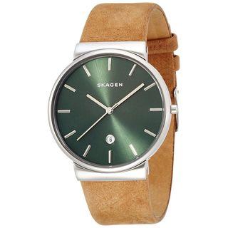 Skagen Men's SKW6183 'Ancher' Brown Leather Watch