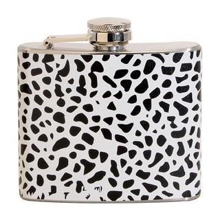White Leopard Fun 5-ounce White Party Flask