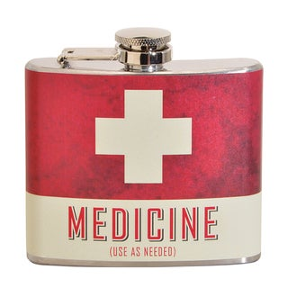 Medicine Fun 5-ounce Multi-color Party Flask