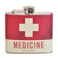 Medicine Fun 5-ounce Multi-color Party Flask