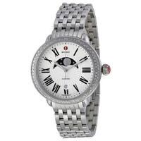 Michele Women's MWW21D000002 'Serein' Moonphase Stainless Steel Watch