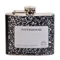 Notebook Fun 5-ounce Black Party Flask