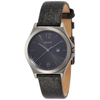 DKNY Women's NY2373 'Parsons' Black Leather Watch
