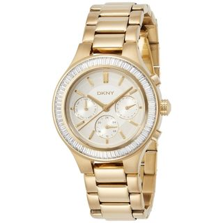 DKNY Women's NY2395 'Chambers' Multi-Function Crystal Gold-Tone Stainless Steel Watch