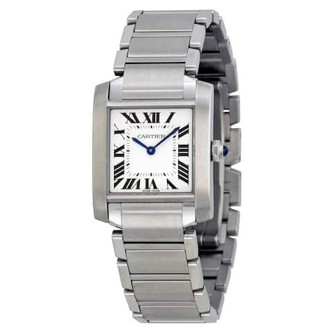 Cartier Women's WSTA0005 'Tank Francaise' Stainless Steel Watch