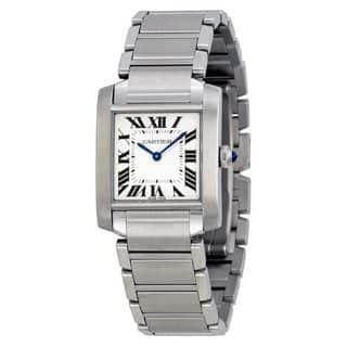 Cartier Women's WSTA0005 'Tank Francaise' Stainless Steel Watch