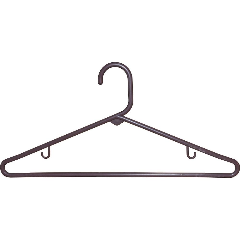 American Brown Tubular Plastic Top Hanger (Case of 36) (B...