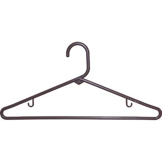 Brown Tubular Plastic Top Hanger (Case of 36)