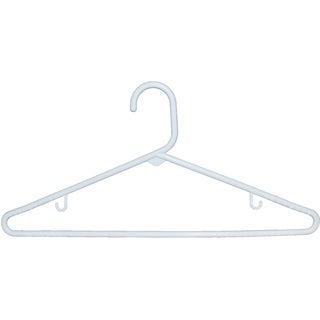 White Tubular Plastic Top Hanger (Case of 72)