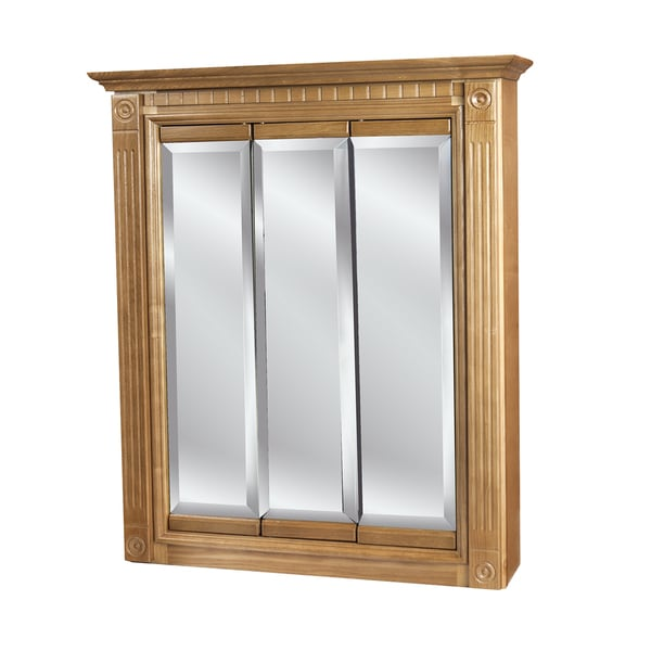 tri view oak 24 x 30 inch medicine cabinet free shipping today
