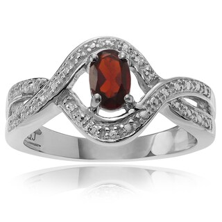 Journee Collection Sterling Silver Garnet 3/8 ct Ring