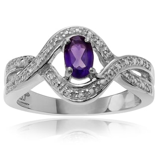 Journee Collection Sterling Silver Amethyst 1/4 ct Ring