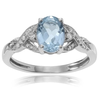 Journee Collection Sterling Silver 1 1/3 ct Topaz Ring