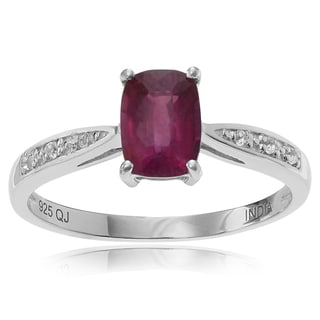 Journee Collection Sterling Silver 1 ct Ruby and Topaz Ring