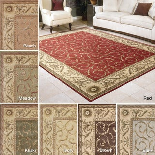 Rug Squared Fenwick Traditional Round Rug (5'6 x 5'6)