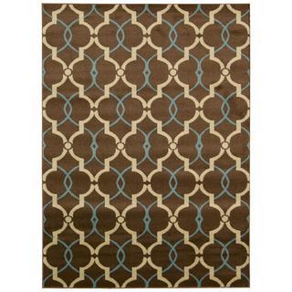 Rug Squared Carlsbad Brown Rug (5'3 x 7'3)