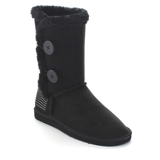 FOREVER ALING-43 Women's Comfort Faux Fur Lined Mid Calf Snow Boots