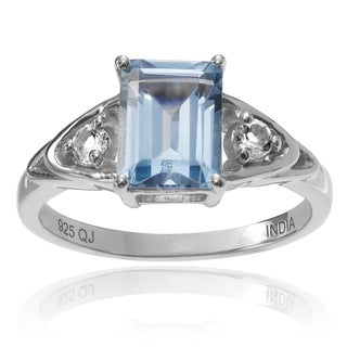 Journee Collection Sterling Silver 1 4/5 ct Topaz 3-stone Ring