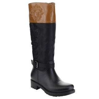 FOREVER CODY-24 Women's Over Knee Buckles Design Riding Boots