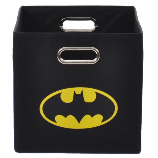 Batman Logo Black Folding Storage Bin