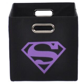 Superman Logo Purple Folding Storage Bin